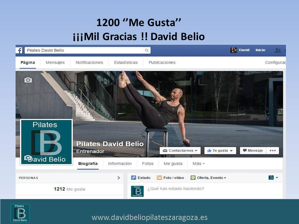 Pilates David Belio en Facebook