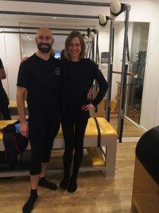 Pilates David Belio con Martina Blume directora de Studi Pilates Girona