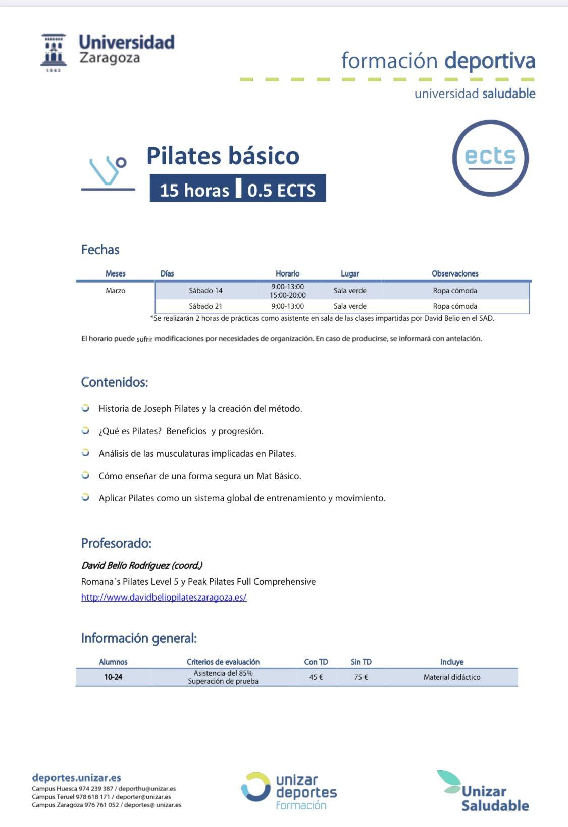 curso pilates basico